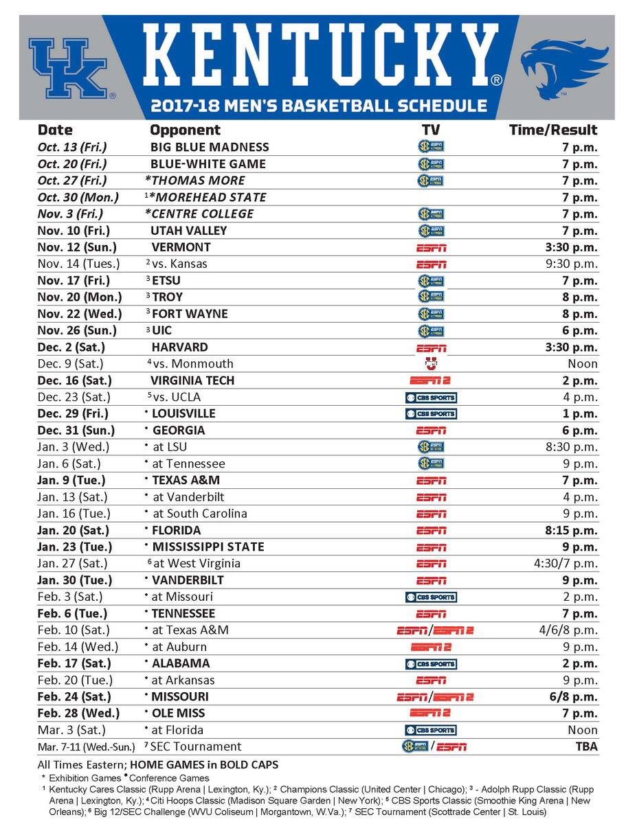 This is a photo of Persnickety Uk Basketball Printable Schedule