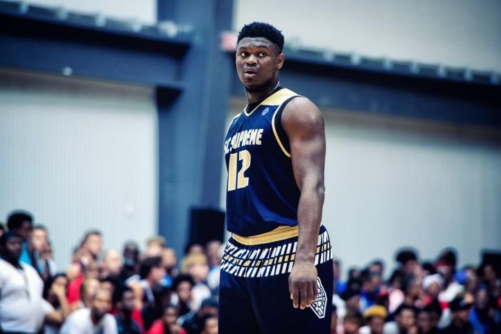 Duke freshman Zion Williamson set a new vertical leap record in freakish fashion